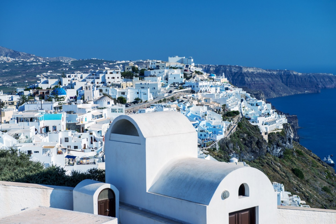 'Architecture and colors of Imerovigli, village in Santorini.' - Santorini